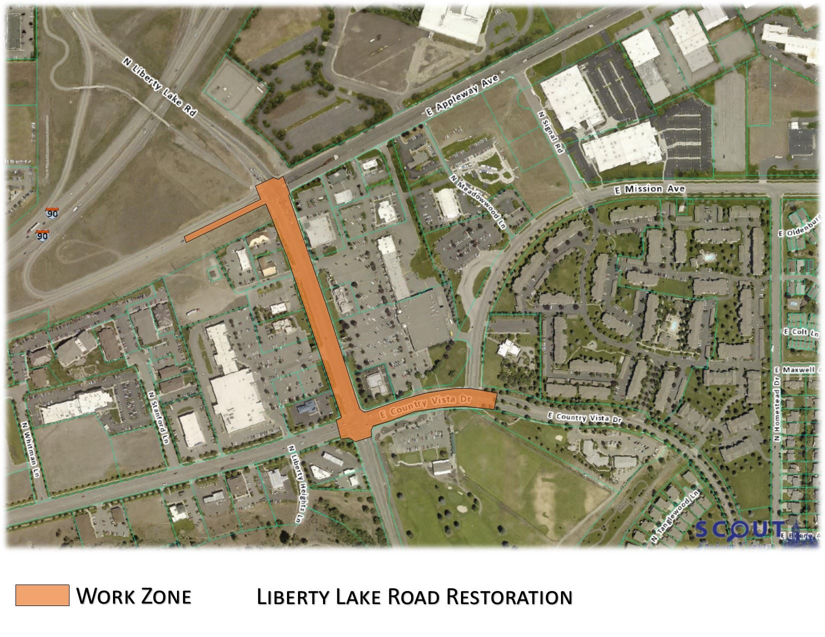 Liberty Lake Road Restoration