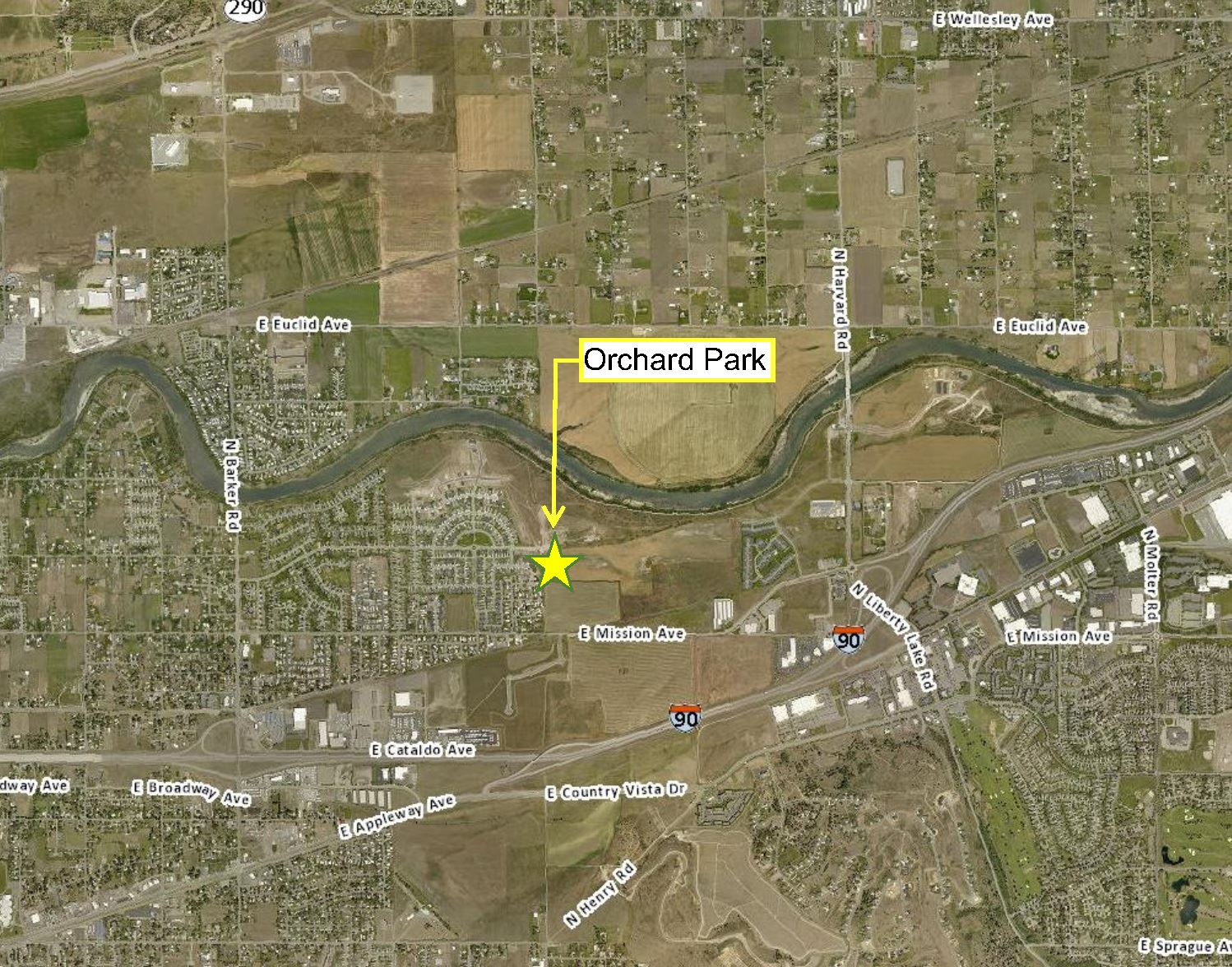 Orchard Park Map