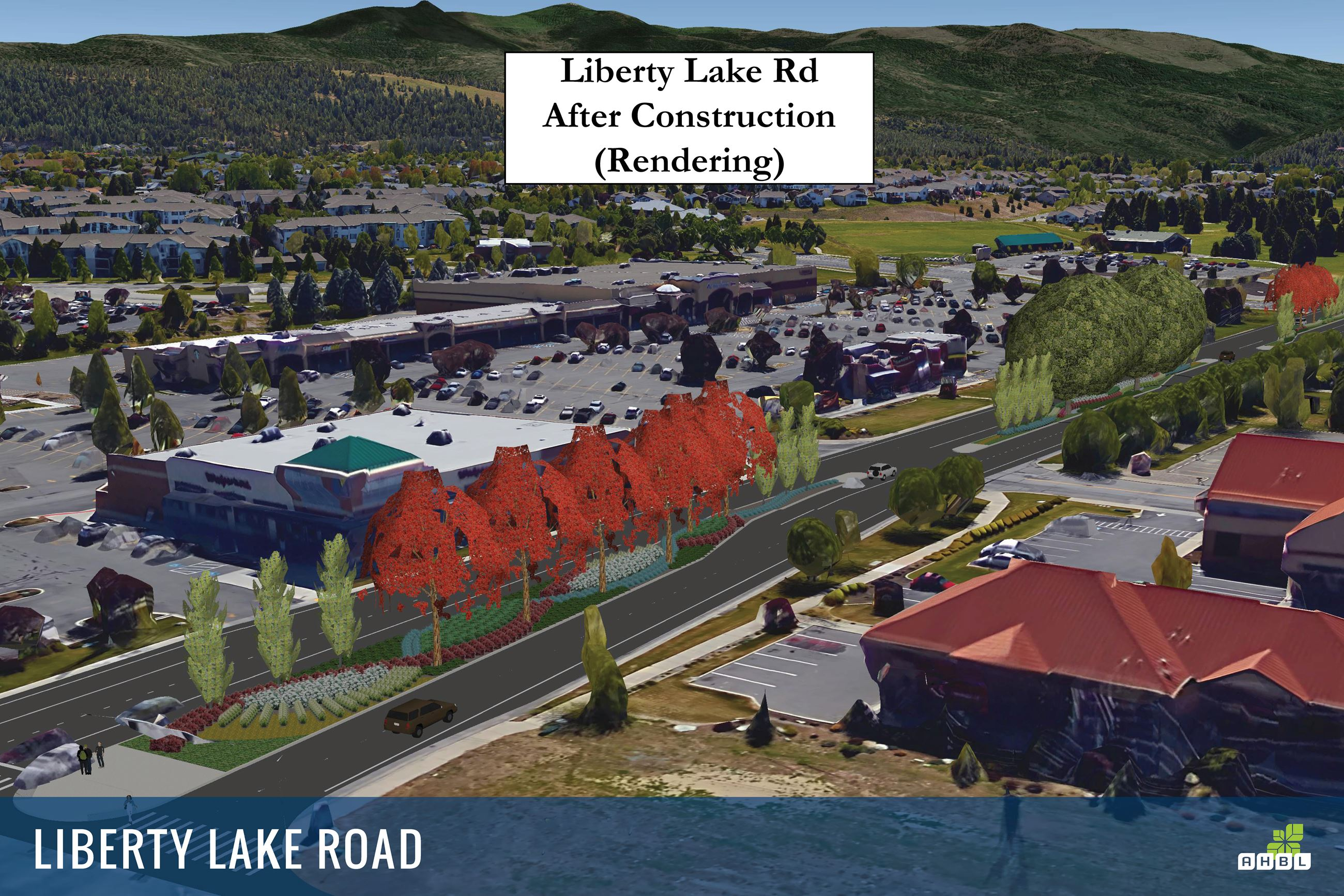 Liberty Lake Road After Construction (Rendering)
