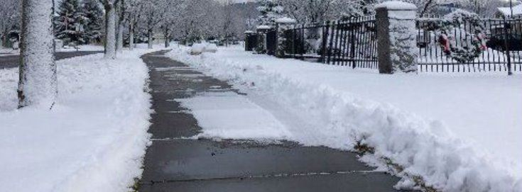 Snow Shoveled Sidwalk