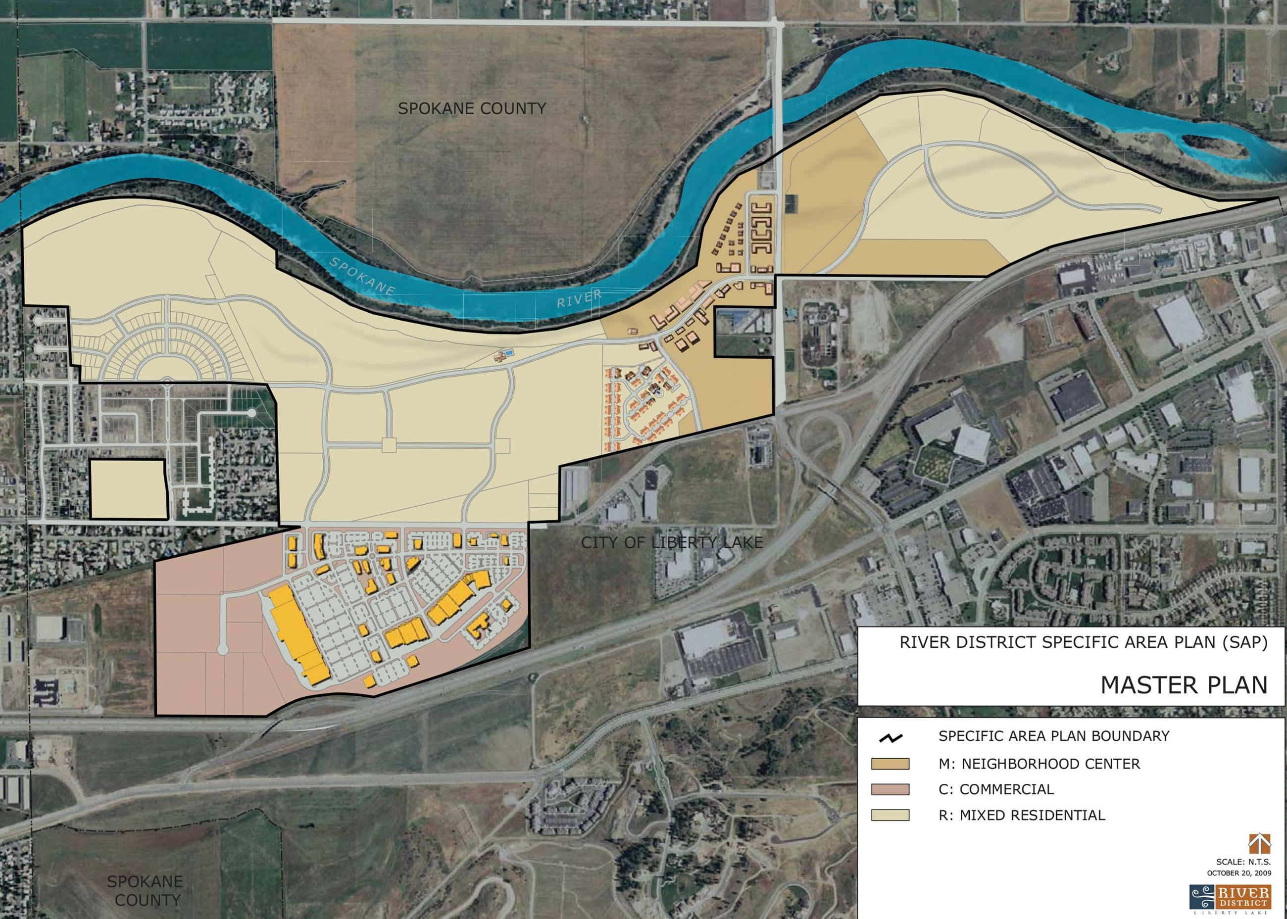 Liberty Lake River District Master Plan Map