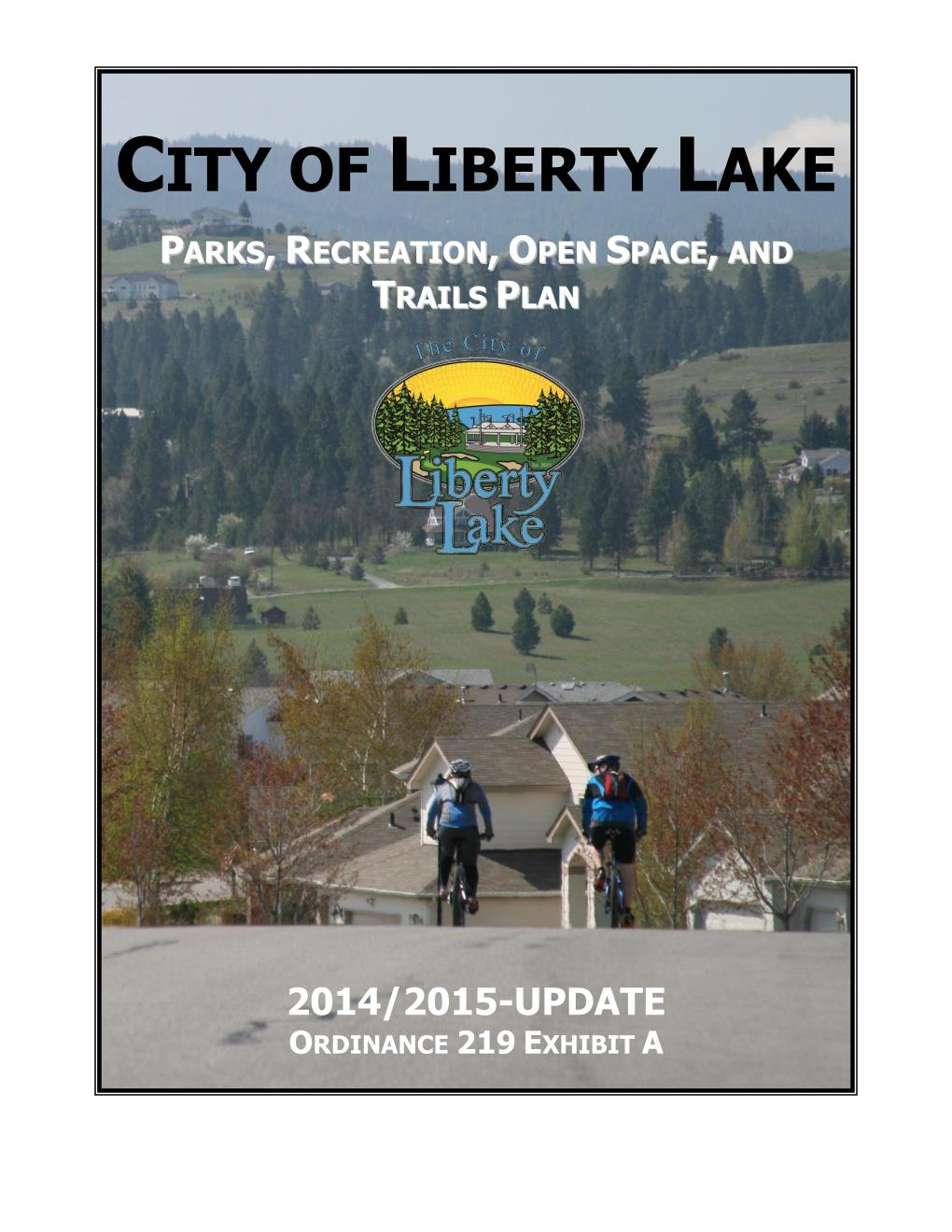 2014-2015 Parks, Recreation, Open Space, and Trails Plan Update Cover