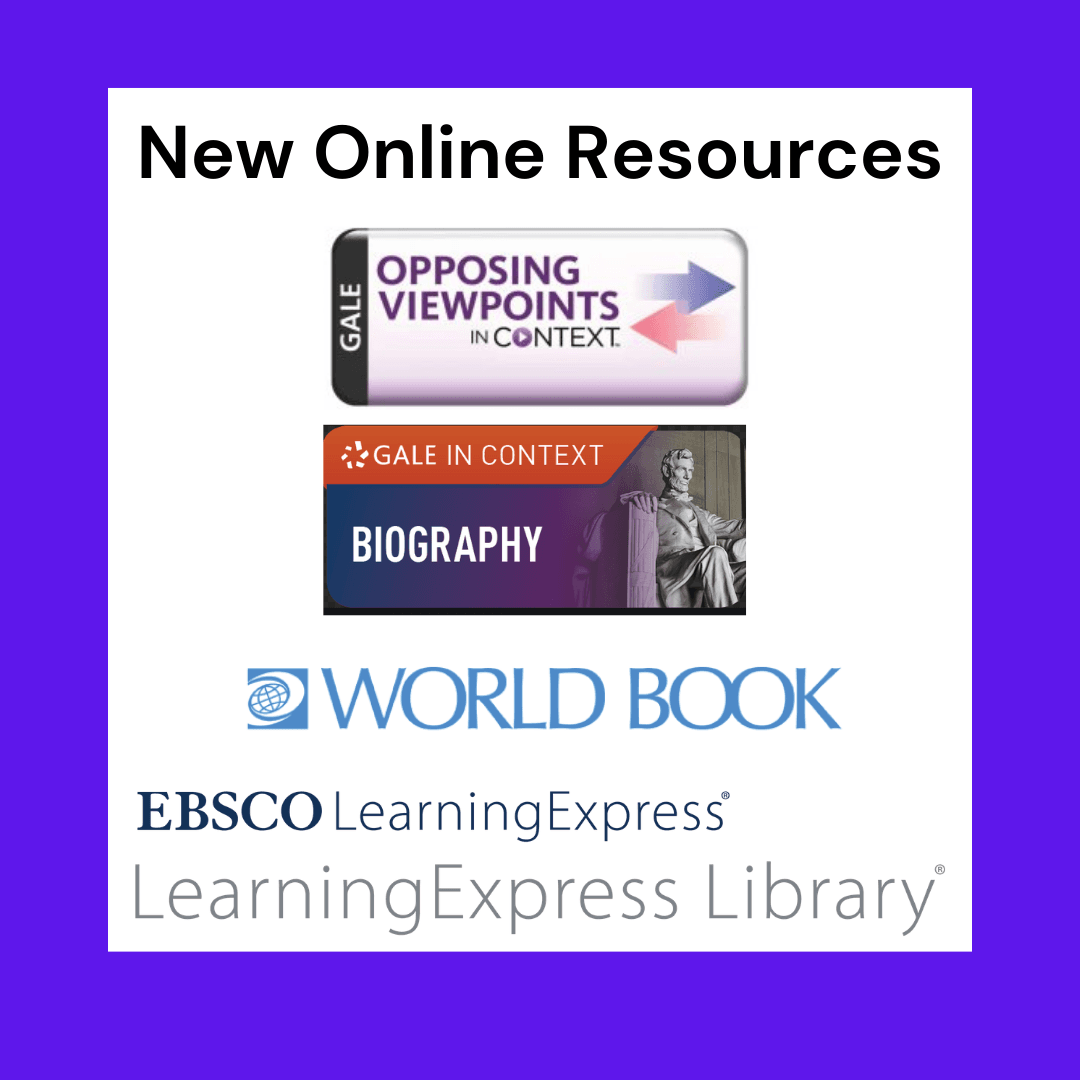 New Online Resources Graphic