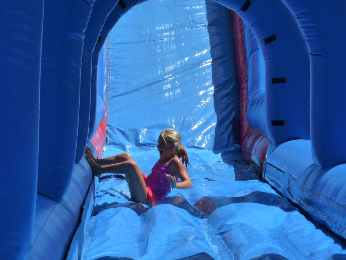 Giant water slide