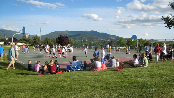 Local Recreation With a Mountainous Backdrop